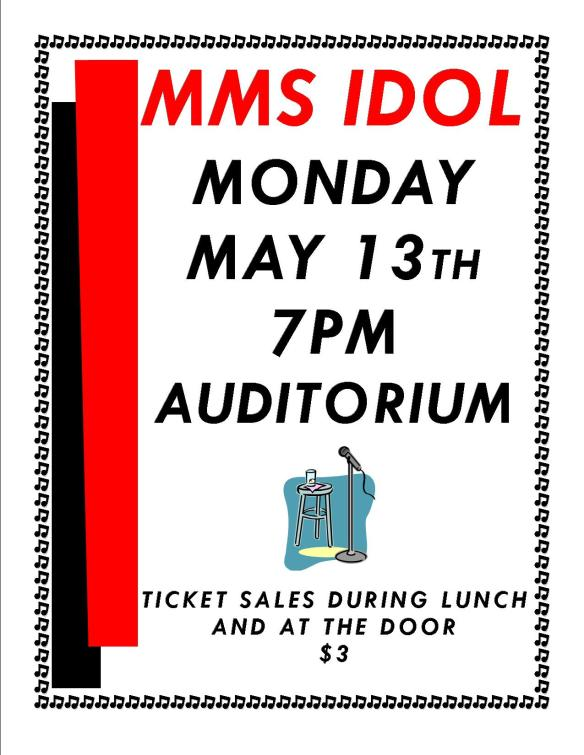 MMS Idol flyer